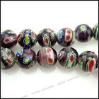millefiori glass beads necklace110345