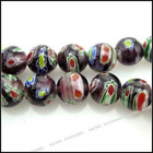 millefiori glass beads necklace110345