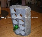 Restaurant Decoration Stone Wine Rack