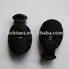 garment accessoires black string plastic stopper