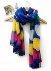 Love wavelet point Bali Yarn long scarf