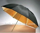 "40"" Photographic equipment Photo Reflector Umbrella,reflector studio umbrella,Studio Umbrella black and gold"