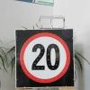 customizable solar traffic led sign