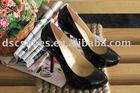 Fashion Women's High Heel Dress Shoes DSCLYT65-15B Black Patent Peather