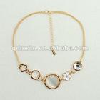 Latest Fashion Gold Diamond Pendant Necklace