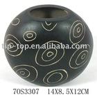 black craft Vase