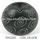 black craft Vase