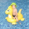 Yellow Cute Dragon Inflatable Rider