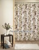 100%polyester printed birds fabric shower curtains