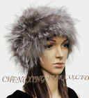 CX-C-23A Unisex Fox Fur Knitted Hat