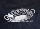 Oval Wire Metal Storage Tray