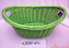Empty wicker picnic baskets