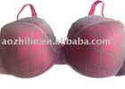 Pink Charming Gauze Lace Plus size Bra