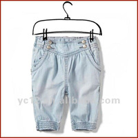 Comfortable Little Girls Cotton Thin Jeans Bloomers Pants