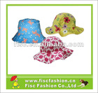 100% cotton printed girls sun hats