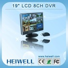 "Best Price 19"" LCD H.264 Standalone 8CH CCTV DVR System"