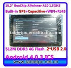"tablet gps Boxchip A10 1.5GHZ Android 4.0.3 GPS RJ45 3D HDMI Flytouch8 tablet 10"" (10A12)"