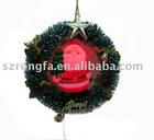 color santa wreath christmas ornament gift