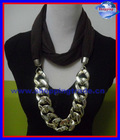 2012 Europe style scarf with Gold big chain pendant