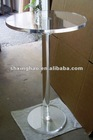 clear round acrylic table