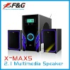high quality 2.1 multimedia woofer speaker with USB/SD /LED Display/ FM/Remote Control