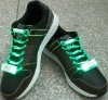 2012 new hot sale green glowing led shoelace