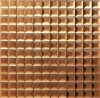 Two size chip of mesh-mounted mirror tile