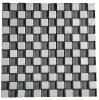 black and white mosaic tile
