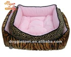 Square soft plush pet bed set