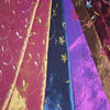 embroideryed two tone colored taffeta of curtain fabric