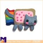 handmade luxurious exclusive design baby cuddling cat stuffed toy