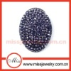 Oval shaped brooch crystal