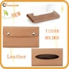 high quality genuine leather pocket tissue holder for car