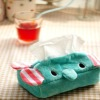personalized plush elephant tissue cover and tissue box