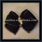 black foam and fabric metal shoe flower bow
