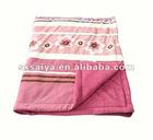 100% polyester Velvet Quilted Throw Blanket