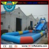 inflatable water pool with water slide