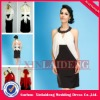 CRD001 2012 new fashion real ladies short halter white and black career dress
