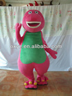 Barney and friends plush costume, for party fun