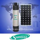 Portable solar submersible pump