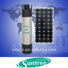 Portable solar submersible pump