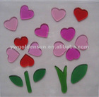 Valentine's Pattern Window Jelly Gel Stickers Glass Sticker (G-00611)