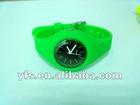 Green Anion ion Negative Quartz Silicone Sports Bracelet Jelly Watch