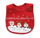 Red cotton baby bib