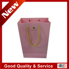 high classic paper packing bags for hotel with gold foil stamping logo