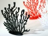 Colored acrylic candle holders with coral shape