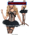 Naughty Cat Leopard GO GO Girl Corset Bustier Dress/Tutu Costume