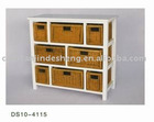 white wooden cabinet with drawers