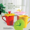 very nice tea cup cover/silicone cup cover
