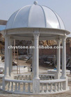Outdoor Stone Gazebo With Iron Roof